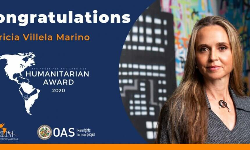 Patrícia Villela Marino receives Humanitarian Award for her work in the prison communities