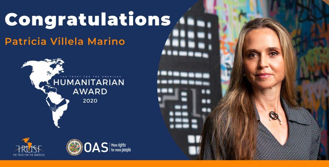 Patrícia Villela Marino receives Humanitarian Award for her work in the prison communities