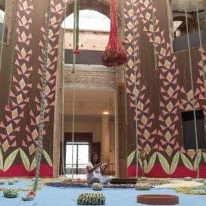From the penitentiary to the art museum: representing former prison mates, ex-inmate does embroidery in installation art by Ernesto Neto