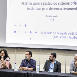 Ricardo Anderáos, from H360, participates in a discussion at the 13th Meeting of the Brazilian Forum on Public Safety