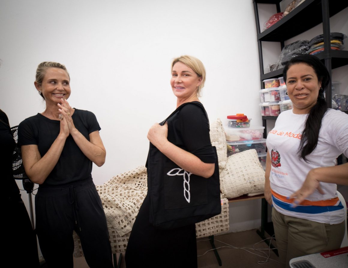 La primera dama de San Pablo, Bia Doria, visita la cooperativa creada por Humanitas360
