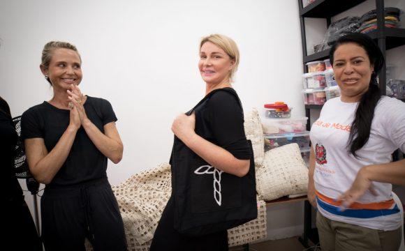 Primeira dama paulista Bia Doria visita cooperativa criada pelo Humanitas360