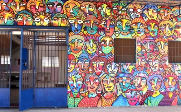"""It has to flourish again,"" says artist Guilherme Kramer after painting the Cuxá Social Cooperative mural"