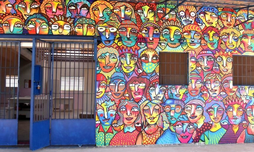 """""""It has to flourish again,"""" says artist Guilherme Kramer after painting the Cuxá Social Cooperative mural"""