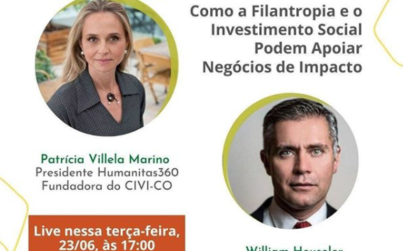 Humanitas360 participa de live sobre negócios de impacto social no Instagram